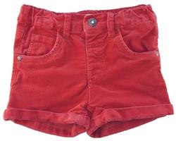 Name it rødorange babyfløjls shorts str. 98