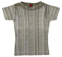 A.M.Y beige stribet T-shirt str. 128