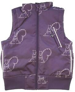 Ny idaT dark lavender winter vest str. 110