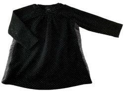 07ca5663f4ef Petit sort fin kjole med sølvprikker str. 74
