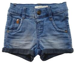 Name it blå elastiske denim shorts str. 80