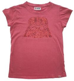 Lego star wars hindbærrød T-shirt str. 128
