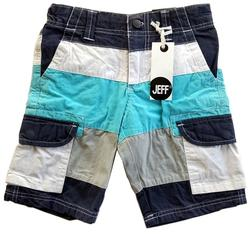 Nye Jeff blåstribede lange shorts
