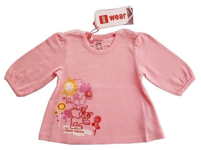 7d83492638e6 Lego Wear lyserød langærmet kjole -50%