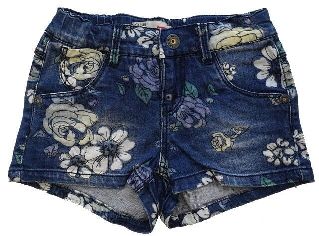 Name it blå blomstrede denim shorts str. 116