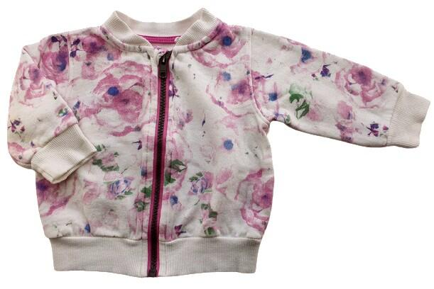 Friends hvid blomstret sweat cardigan str. 68